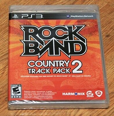 Rock Band: Country Track Pack Vol. 2 (Sony Playstation 3, PS 3) BRAND NEW SEALED