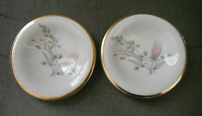 Set of 2 Alka Bavaria Germany Pin dishes with Gold Rim