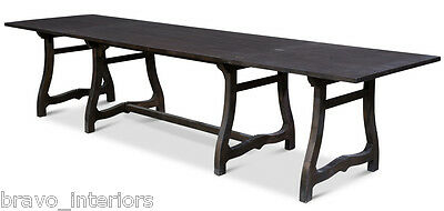 Farm Dining Table Opens Expands Ends Fold Light Brown Handmade New Free shipping