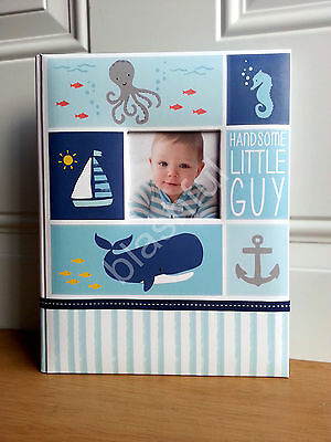 Carter's Blue UNDER THE SEA Baby Boy Memory Keepsake Book Beach Ocean Whale