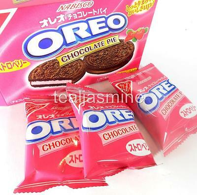 Nabisco OREO CHOCOLATE PIE  Cookie Strawberry Flavored Filled  Japan 5.10 Oz