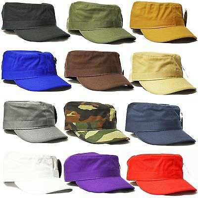 100% Cotton Ethos Premium Quality Fitted Cadet Military Army Cap Hat S,M,L,XL