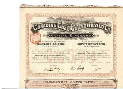 Canadian Coal Consolidated  1910