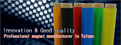 "Color Magnet Rolls: ORANGE, BLUE, GREEN, RED YELLOW (SIZE:30milx24""x25')"