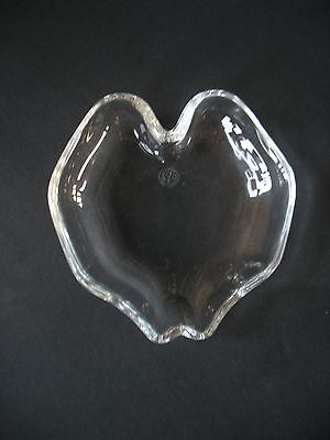 """Baccarat 5""""  apple shaped? Crystal candy Dish"""