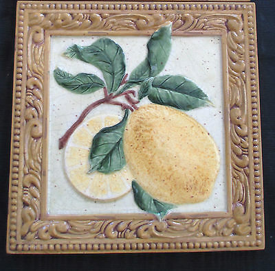 Ceramic Pineapple Trivet-Interior Accents- Tuscan Country Collection-NEW