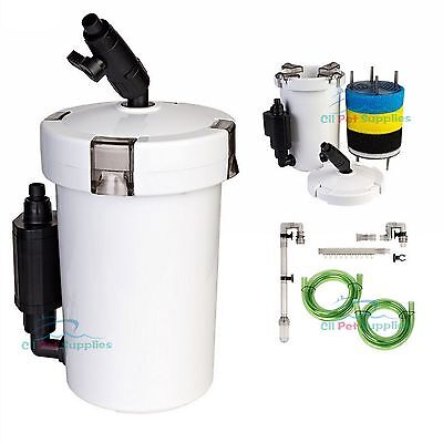 Mini External Canister Filter (L) Table Top Nano Fresh/Salt Aquarium SUNSUN 603B