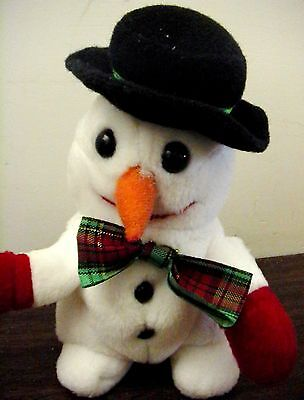 "ADORABLE  6"" KELLYTOY PLUSH CHRISTMAS HOLIDAY SNOWMAN STUFFED WINTER DOLL TOY!"