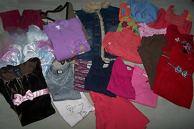 LOT OF, 24 PC, MIXED, GIRL'S CLOTHING, SIZE: 4T