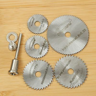 6Pcs HSS Saw Disc Set Wheel Cutting Blades For Grinderl Drills and Rotary Tools