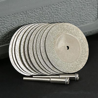 10x40mm Diamond Cut Off Disc Cutting Wheel Rotary Tool & Arbor Drill For Grinder