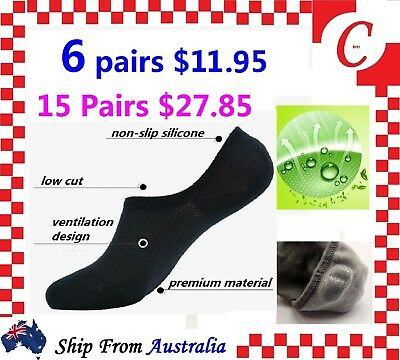 Men Women Bamboo Non-slip Heel Grip Low Cut No Show Socks Footlet Invisible