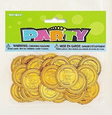30 gold coins Pirate birthday party  treasure hunt loot bag fillers