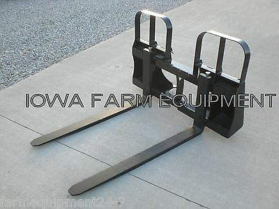 "48"", 4200lb EURO/ALO/GLOBAL/QUICKIE QUICK ATTACH PALLET FORKS w/Walk Thru Frame!"