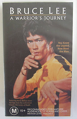 BRUCE LEE A WARRIOR'S JOURNEY RARE PAL VHS VIDEO TAPE
