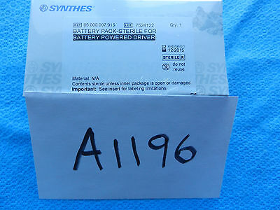 Synthes Orthopedic Battery Pack For Battery Powered Driver 05.000.007.01S NEW!!