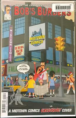 Bobs Burgers #1 Rare Midtown Exclusive Belchers In NYC Variant Cover