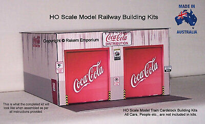 HO Scale Coca Cola Distribution Shed Model Railway Building Kit - CCWH