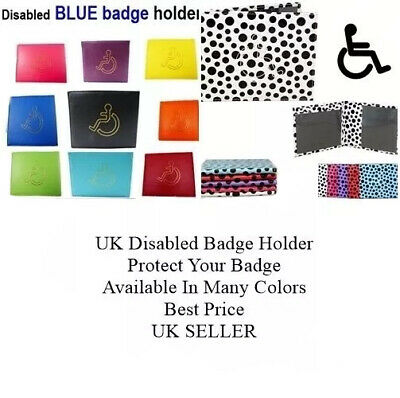 Disabled Badge Holder Blue Safe Parking Permit Display Cover Wallet UK SELLER