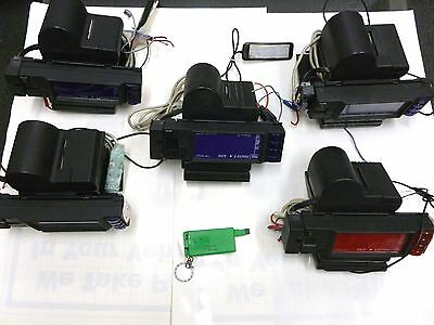 Gleike Printing Mini Taximeter with credit card reader (LOT OF 5 WITH KEY)