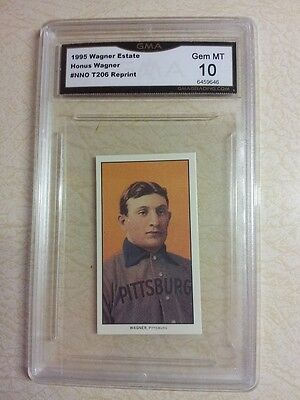 ($200) Honus Wagner Estate 1909 T206 Reprint Piedmont Tobacco Graded 10 Gem Mint