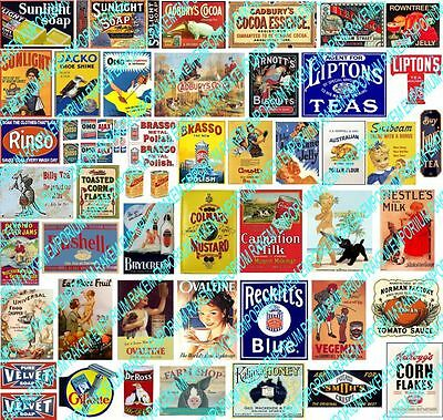 N Scale Vintage Household Aussie Brand Signs Posters - Model Railway - NHS1