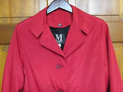 Mulberry Street Women's M Red Coat With Removable Liner