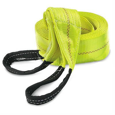 """HFS 30ft x 4"""" Recovery Strap 10TON Polyester Tow Strap Rope 20,000LBS breaking"""