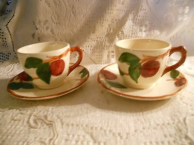 "2 Franciscan ""Apple"" Cups and Saucers - Made in USA"