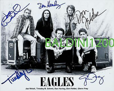 The Eagles Signed 10X8 Photo Great Studio Image, Looks Great Framed