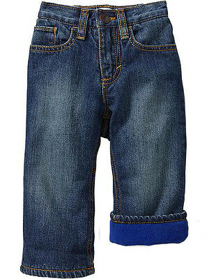 Old Navy Baby boy Girl Unisex Micro Fleece lined pull on 5 pockets Jeans Pants