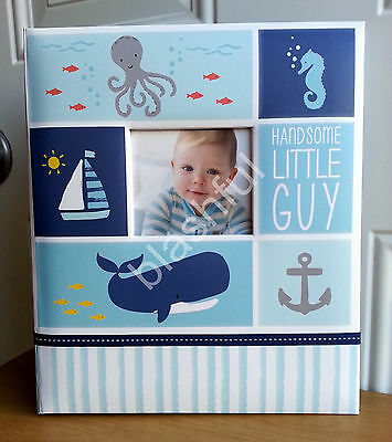Carter's UNDER THE SEA Baby Boy Memory Keepsake Book Beach Whale LOOSE LEAF