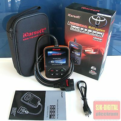 i905 OBD2 iCarsoft Diagnosegerät TOYOTA Tiefendiagnose ABS Airbag Motor Kombi ++