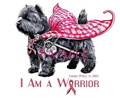 Cairn Terrier Breast Cancer Warrior Tote –  Beach Bag