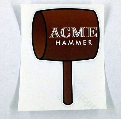 "Acme Hammer looney tunes Wile E coyote sticker decal  3""x4"""