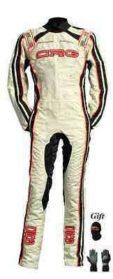 CRG race suit CIK/FIA level 2 2015 style white(free balaclava and gloves)