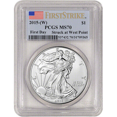 2015-(W) American Silver Eagle - PCGS MS70 - First Strike - First Day
