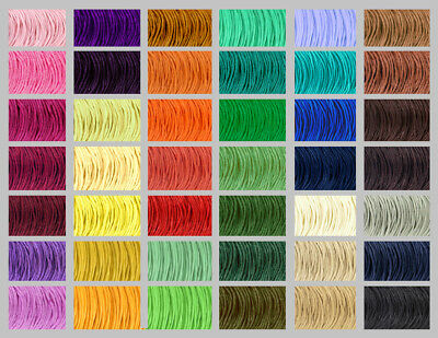 Waxed Cotton Cord 1mm 43 COLOURS Shamballa Thread Jewellery Making  99p for 10m