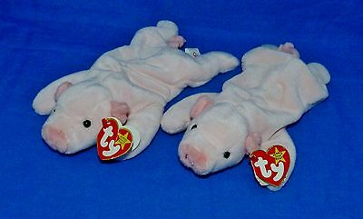 "Ty SQUEALER 8"" Pink Pig Original PVC 1997 Beanie Baby Boys Girls 3+ NT"