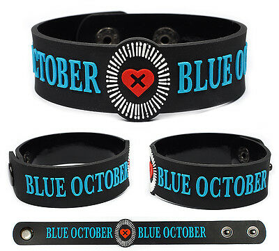 BLUE OCTOBER Rubber Bracelet Wristband Sway Any Man in America