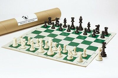 Triple Weighted Tournament Chess Set  w/ Crease-Free Shipping Xtra Queens