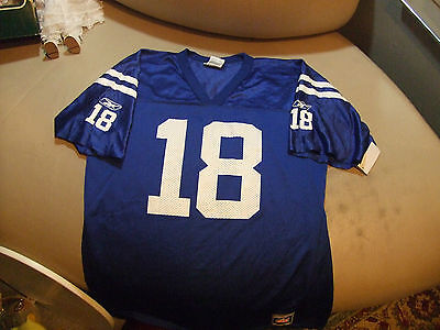 INDIANAPOLIS COLTS # 18 MANNING SZ YOUTH XL NEW WO TAGS REEBOK