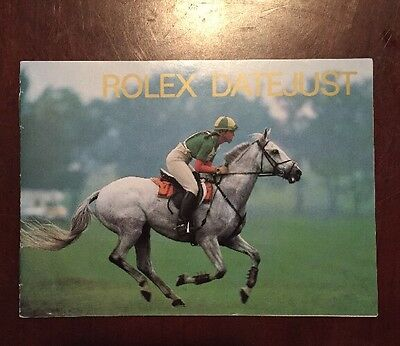1988 Factory Rolex DateJust Booklet Manual With Revisions On Page 9
