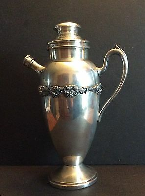 VINYAGE ACADEMY SILVER CO SILVERPLATE WATER PITCHER GRAPE VINE DESIGN 1950s