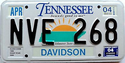 """2004 TENNESSEE """"Sounds Good To Me"""" graphic license plate # NVE-268"""