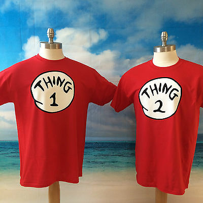 THING 1 THING 2 T SHIRT ALL SIZES ON SALE . Dr. Seuss Thing one Thing Two Shirt