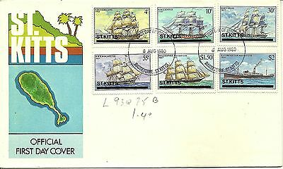 8/8/1980 St. Kitts FDC - Ships