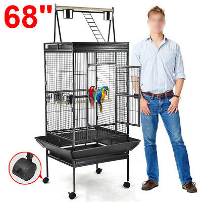 NEW Parrot Bird Pet Cage Macaw African Cages Cockatiel House Stand Lock