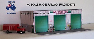 HO Scale Woolworths Distribution Warehouse Shed Model Railway Building Kit  WWWH
