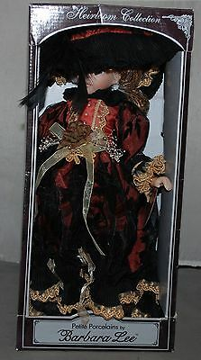 Petite Porcelain Doll by Barbara Lee Limited Edition Victorian Lady Burgundy